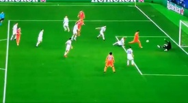 Morata firmó el primer gol de la Champions 2020-21. Captura/Movistarligadecampeones