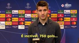 Cristiano le 'robó' el gol a Morata para alcanzar la cifra. Captura/EsporteInterativo