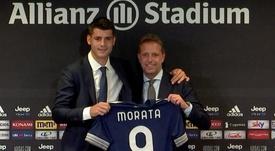 Morata falou de sua relação com Cristiano Ronaldo. Twitter/juventusfc
