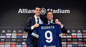 Morata will travel to face Roma on Sunday. Twitter/juventusfc