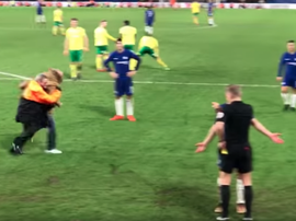 Morata a vu le carton rouge lors des dernières minutes de la rencontre. Capture