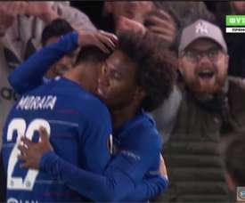 Morata marque le premier but. Capture