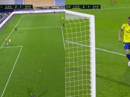 Negredo made it 2-1. Screenshot/MovistarLaLiga