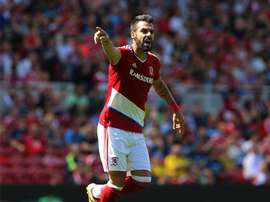 Àlvaro Negredo, Middlesbrough, player. AFP