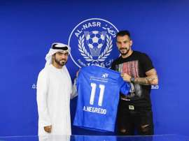 Negredo jugará las próximas dos temporadas en Dubai. Twitter/ALNasrSC