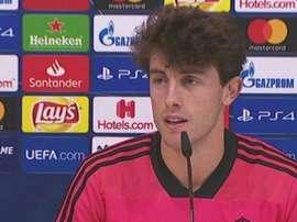 Odriozola a montré sa grande admiration pour Benzema. Capture