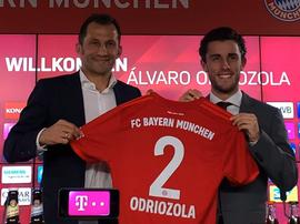 Odriozola a été présenté pour la première fois. Twitter/FCBayern