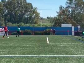 Así fue el curioso gol del San Pedro. Captura/UdSanPedro