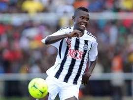 Aly Mbwana Samatta, jugador del TP Mazembe. Twitter