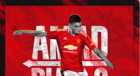 Manchester United annonce la signature d'Amad Diallo. Twitter/ManUtd