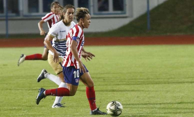 El Atlético gana pero se deja los deberes para Madrid. Twitter/AtletiFemenino