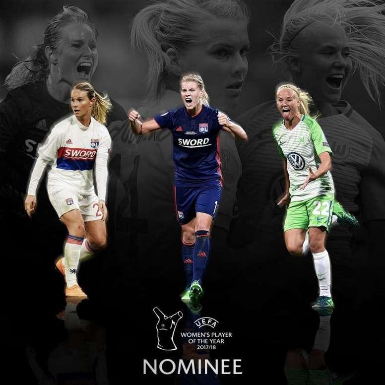 La holandesa Martens consiguió el premio el pasado año. UEFA
