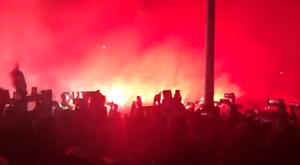 Tremendo ambiente en las afueras del Wanda Metropolitano. Captura/Carrusel