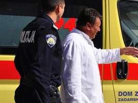 El colegiado tuvo que abandonar el campo en ambulancia. PrimoracBiograd