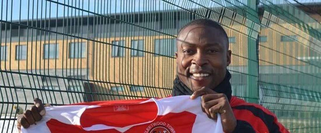 Ameobi is another Fleetwood player. AFP