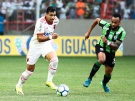 América-MG e Flamengo ficaram no empate pela 21ª rodada o Brasileirão. Twitter @flatorcida12