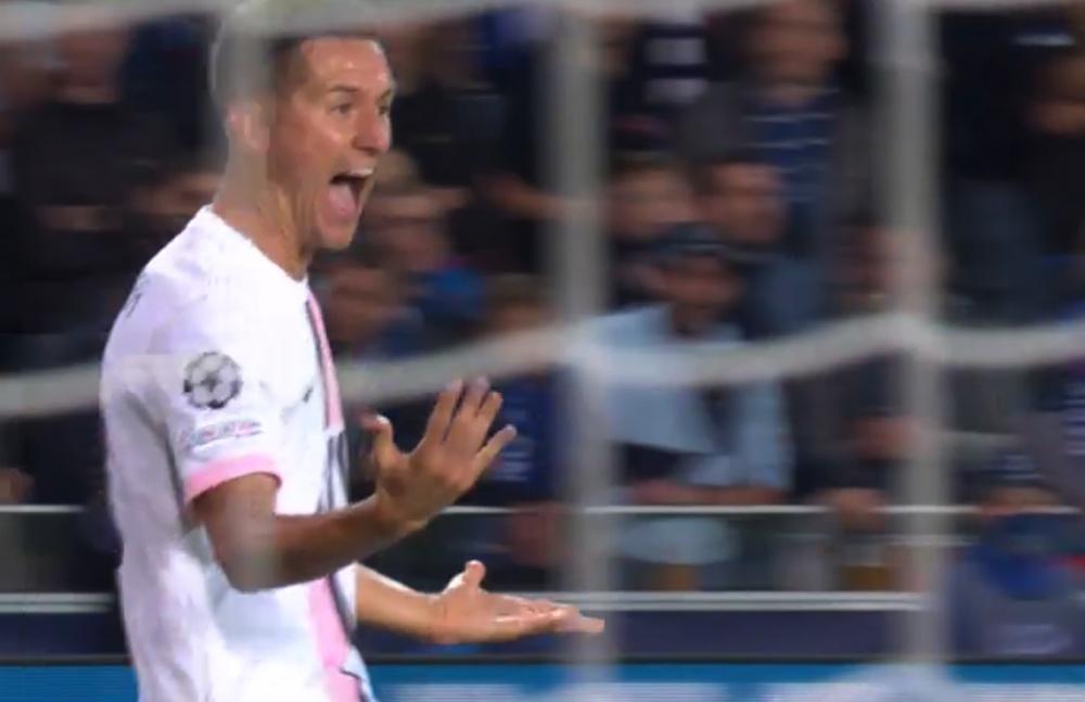 Mbappé le regaló a Ander el 0-1. Captura/MovistarLigadeCampeones