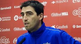Iraola pidió a los suyos que vayan a tope ante el Sporting. Twitter/CDMirandes