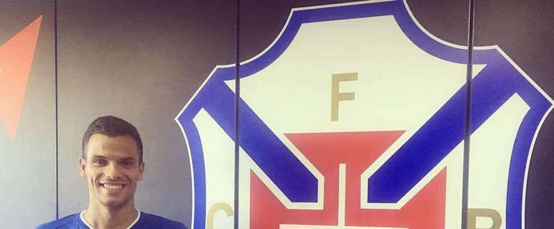 Esta vai ser a terceira passagem de André Geraldes pelo Restelo. Twitter/Belenenses