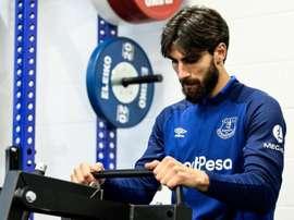 André Gomes est réapparu sur les terrains seulement 112 jours. EvertonFC