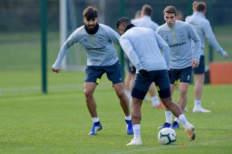 André Gomes vuelve a disfrutar del fútbol en Inglaterra. Everton