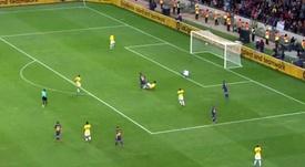 Troisième but de Ter Stegen. Capture/FCB