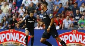 André Silva na estreia pelo Sevilla. Twitter@LaLiga