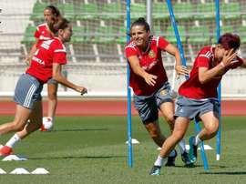 Las jugadoras se impusieron a Portugal en la Eurocopa de Holanda. Twitter/Andrea Pereira
