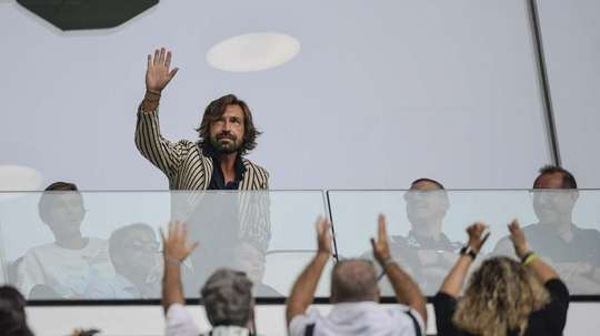 Andrea Pirlo watched from a box. JuventusFC