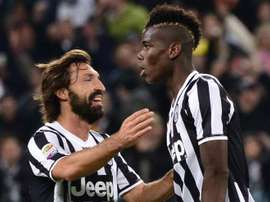 Pirlo and Pogba pictured in 2016. EFE