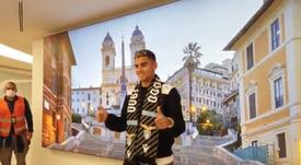 Andreas Pereira ya está en Roma. Captura/Lazio