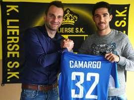 El Lierse ya ha recibido a Camargo. LierseSK