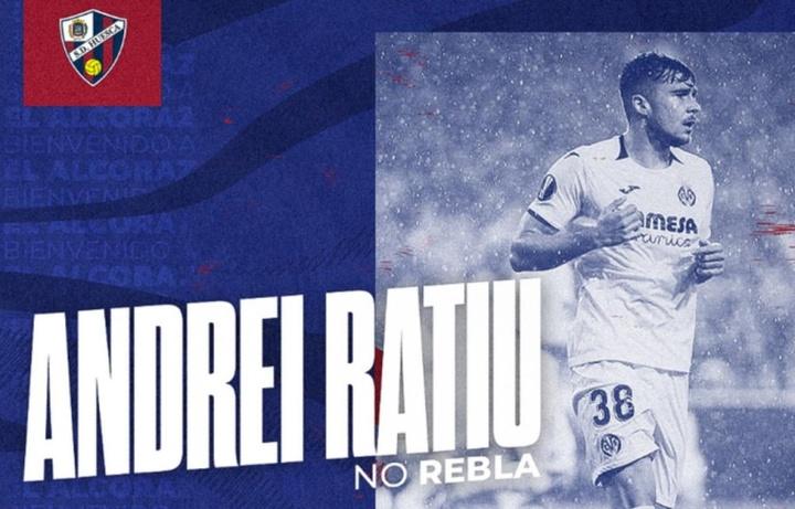 Andrei Ratiu, nuevo jugador de la SD Huesca. Twitter/SDHuesca