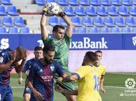Andrés Fernández, feliz por el empate. LaLiga