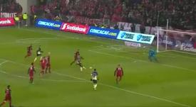 Ibargüen anotó el 1-1. Captura