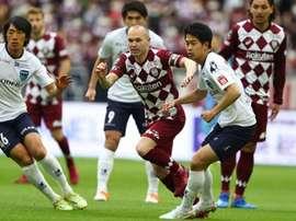 Liga Japonesa volta em 4 de julho. Twitter/visselkobe