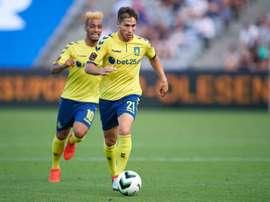 El jugador danés no tuvo los minutos deseados en la 16-17. BrondbdyIF