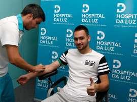 O jogador tem contrato até junho de 2021 com o Benfica. SLBenfica