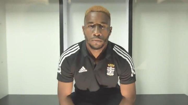 Andy Kawaya, nuevo jugador del Cartagena. Captura/FCCartagena_efs