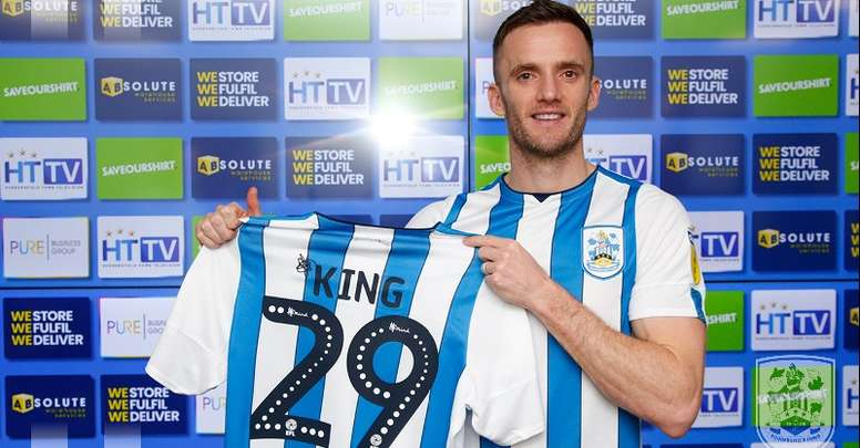 King has signed for Huddersfield. Twitter/HtaFC
