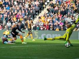 Robertson a inscrit le premier but pour Hull contre West Ham. HullCity