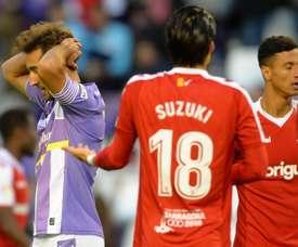 El Valladolid se estrelló en casa contra un serio Nàstic. LaLiga