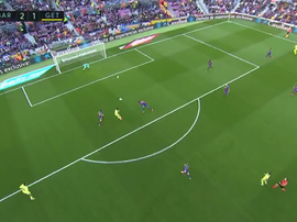 Angel ha accorciato le distanze al Camp Nou. MovistarLaLiga