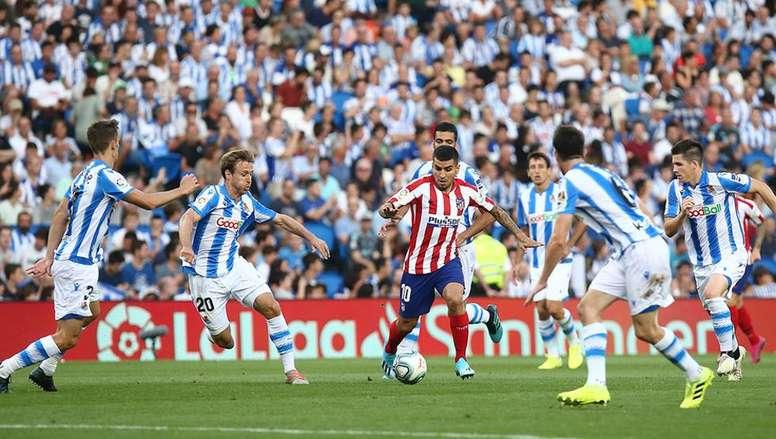 Correa volvió a jugar con el Atleti. AtleticodeMadrid