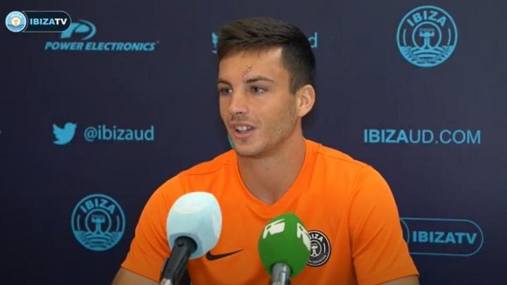Ángel Rodado podría se nuevo jugador del Albacete. Captura/UDIbiza