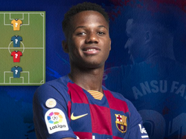 Ansu Fati picked his four favourite players. FCBarcelona