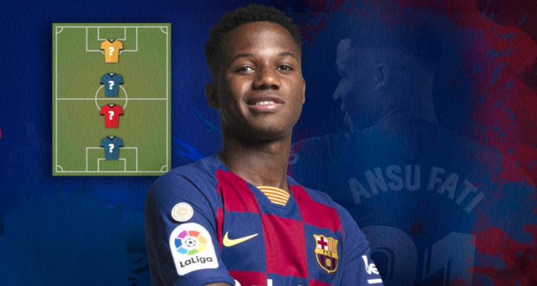 Ansu Fati eligió a sus cuatro jugadores preferidos. FCBarcelona