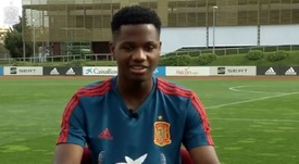 Ansu Fati has spoken to the Federation about being called up for Spain U21. Captura/SeFutbol