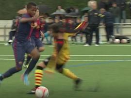 Os gols de Ansu Fati que poucos viram. Captura/Dugout
