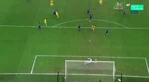 Ansu Fati se torna o mais jovem a marcar gol na história da Champions. Captura/Movistar